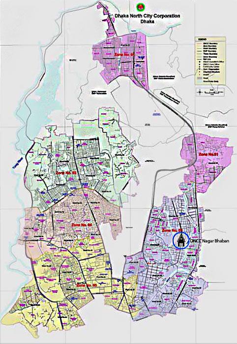 Dhaka North City Corporation Map