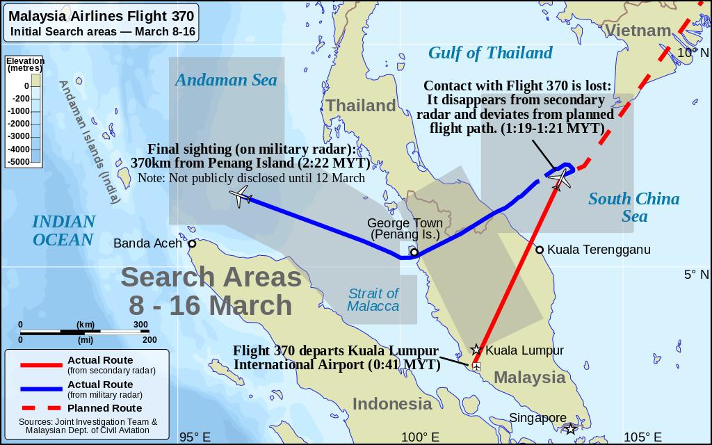 Malaysia Airlines Flight 370 Destinaiton